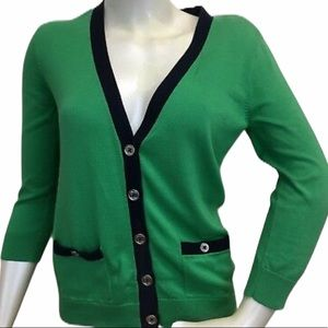 CHAPS Green Button front Cardigan Sweater Women's
